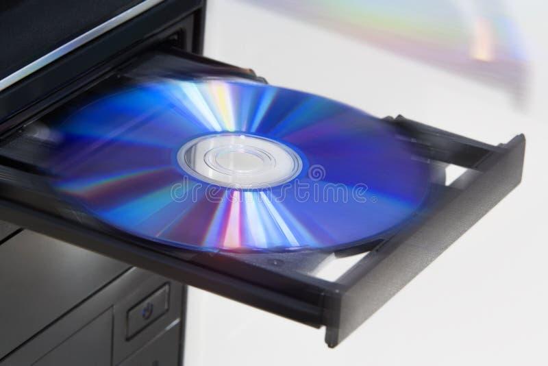 抛出圆盘从台式计算机 图库摄影