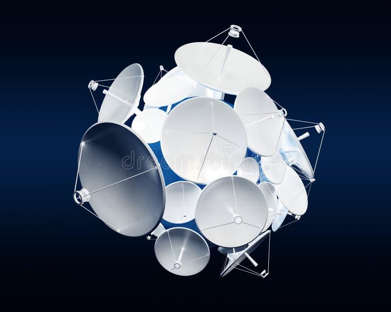抛物面的antena 免版税图库摄影