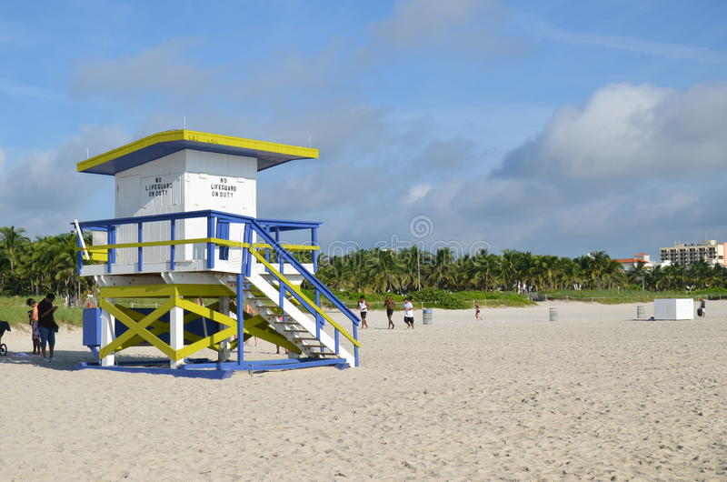 抢救塔,迈阿密海滩 免版税库存图片