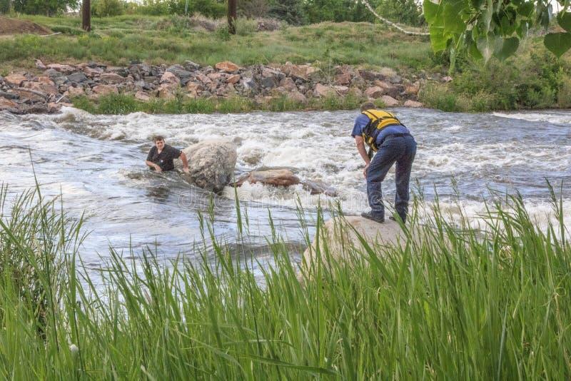 水抢救 免版税图库摄影