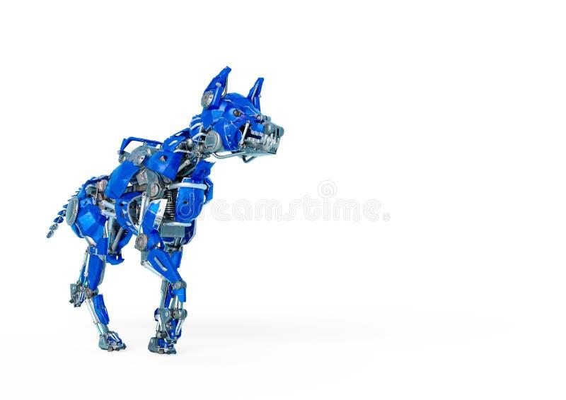 护卫犬机器人是一保障系统在白色背景中 皇族释放例证