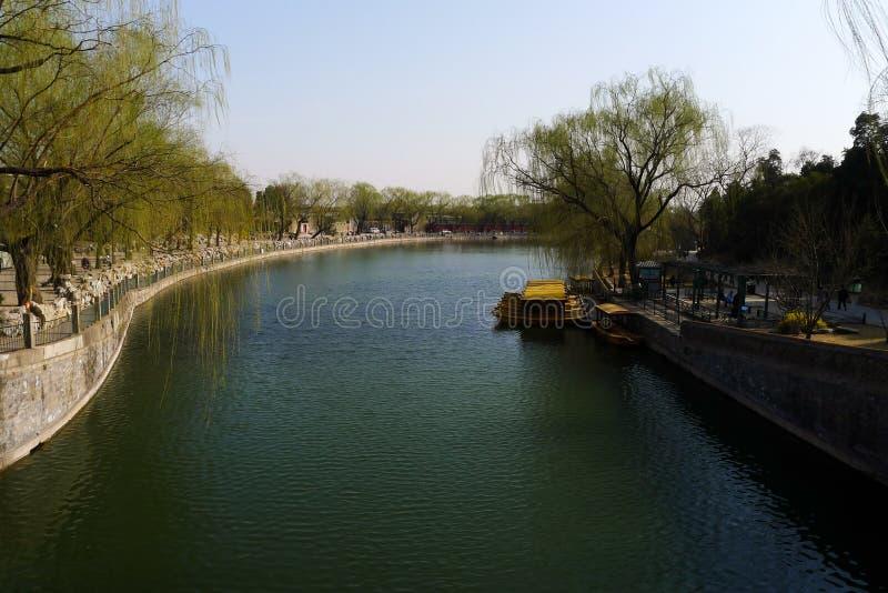 护城河附近的天安门广场 免版税库存照片