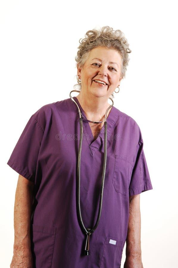 护士前辈 免版税图库摄影