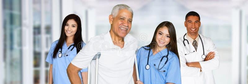 护士和医生 免版税库存照片