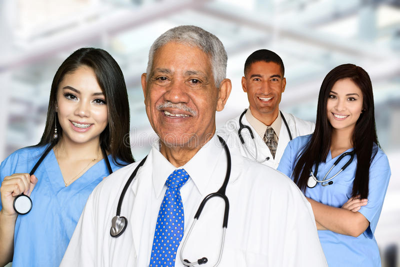 护士和医生 库存照片