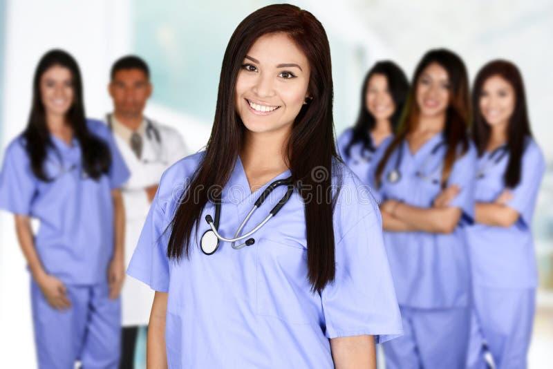 护士在医院 免版税库存图片