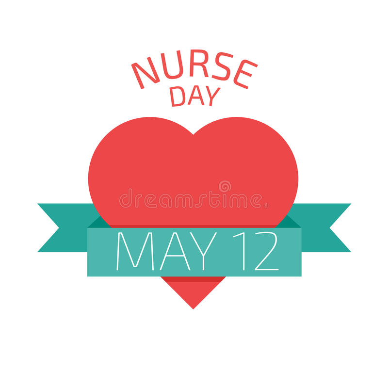 护士天, 5月12日 也corel凹道例证向量 库存例证