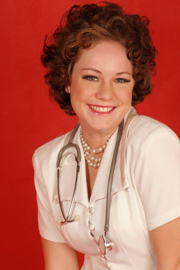护士微笑 免版税库存照片