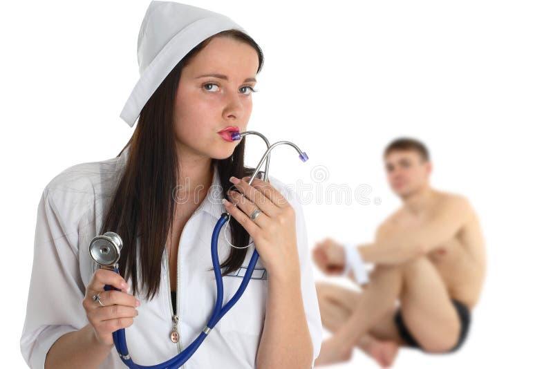 护士患者 库存照片