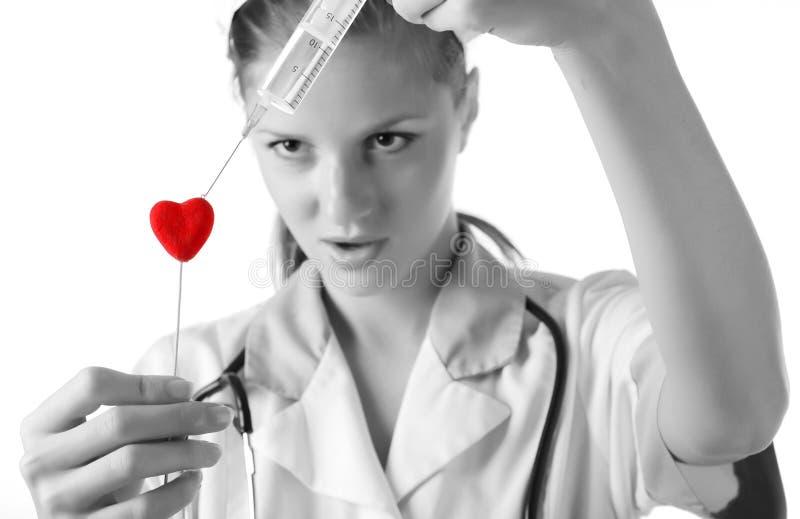 护士注射器 库存照片
