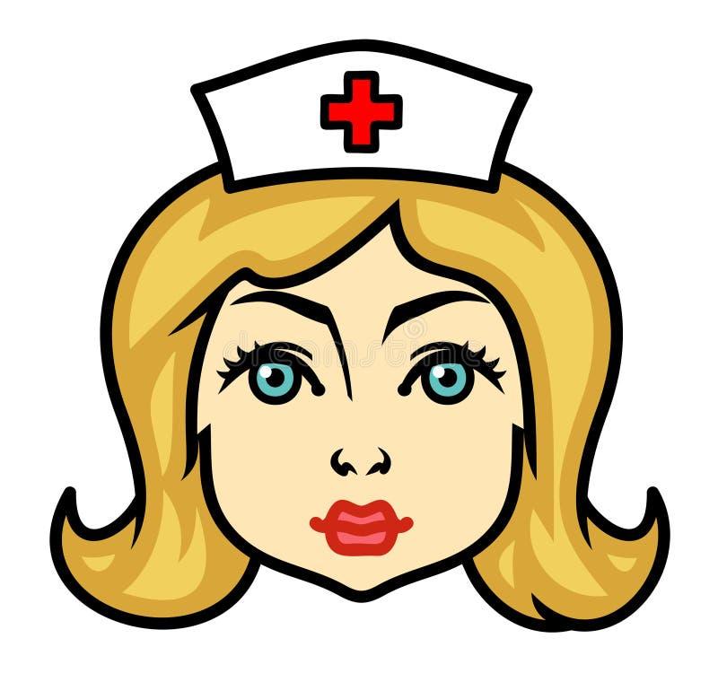 护士纵向向量 皇族释放例证