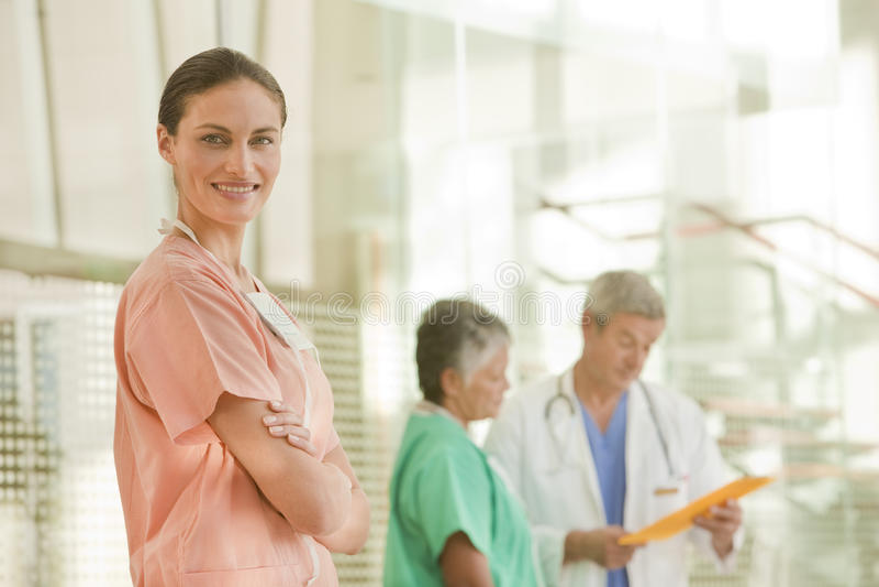 护士纵向 免版税库存照片
