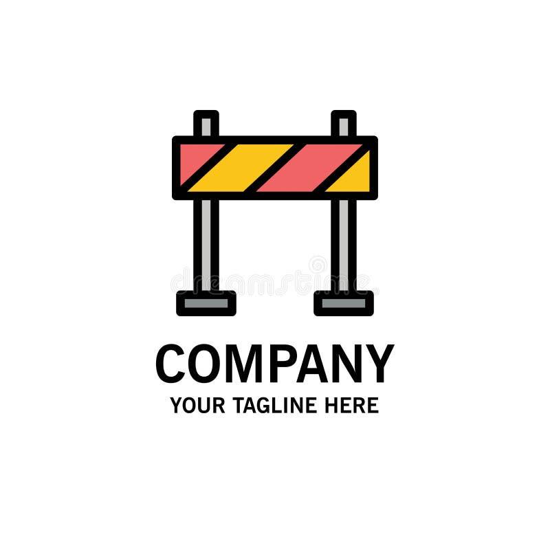 护拦,障碍,建筑业商标模板 o 向量例证