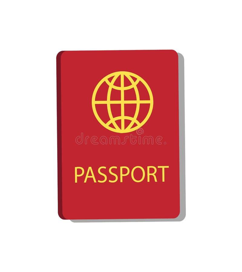 护照个人文件传染媒介例证 皇族释放例证