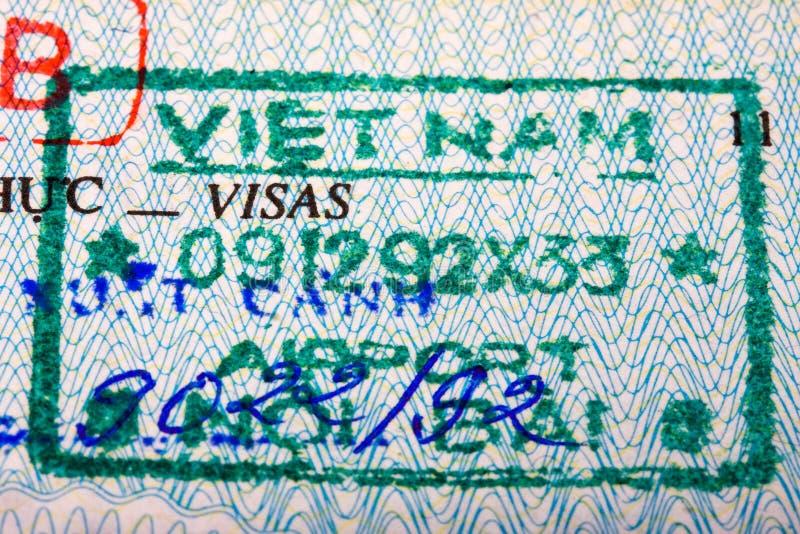 护照印花税越南 库存照片