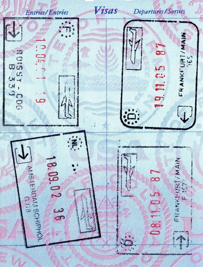 护照印花税 免版税库存照片