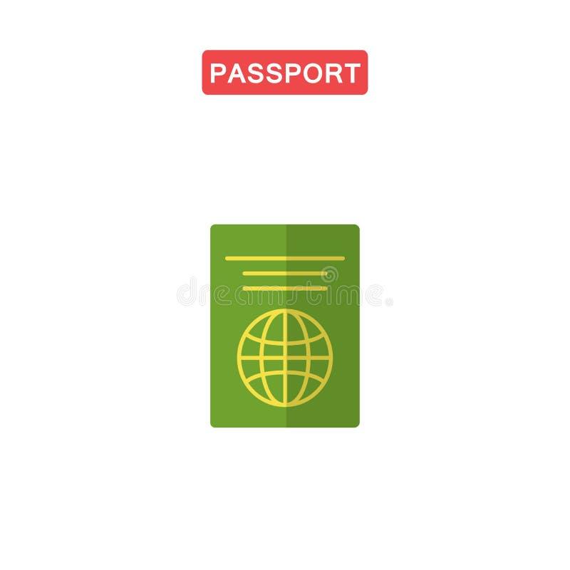 护照平的象 库存例证