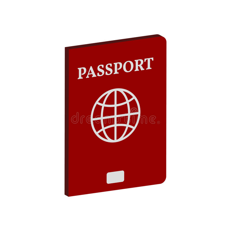 护照标志 平的等量象或商标 皇族释放例证