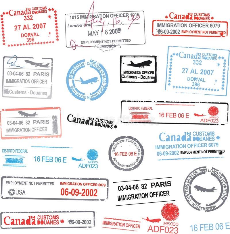 护照标记向量 库存例证