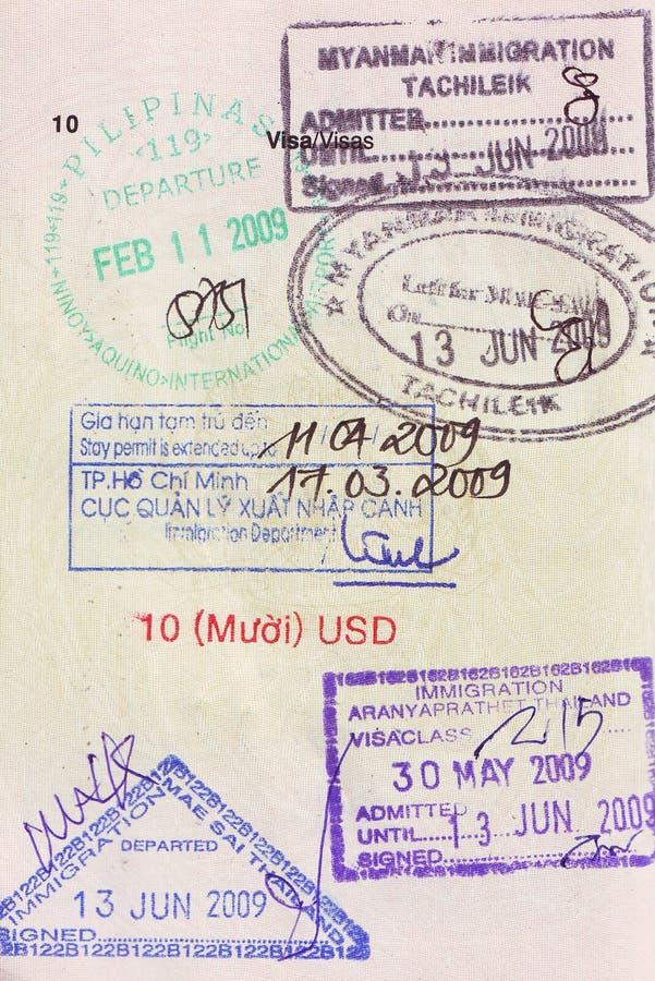 护照标记签证 免版税库存图片