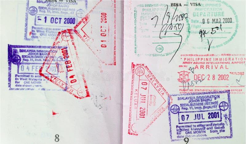 护照签证 库存图片