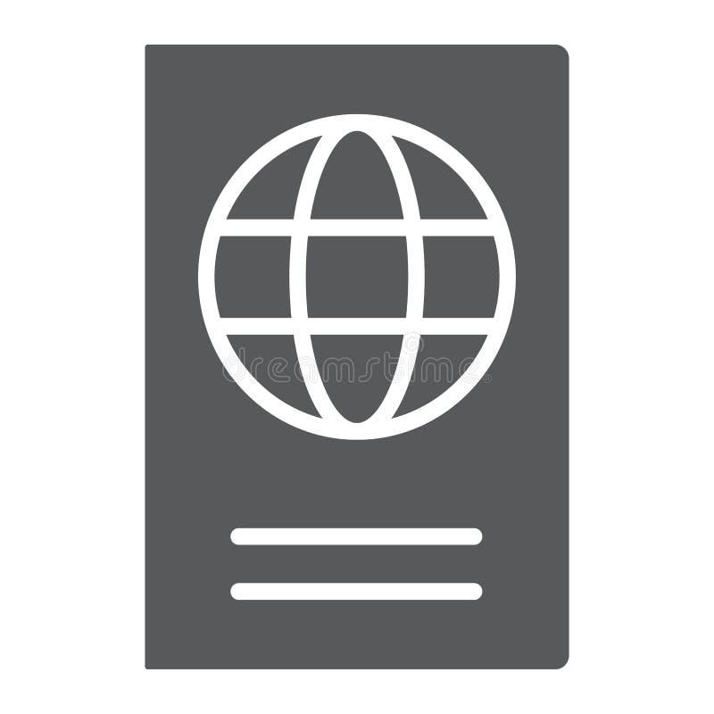 护照纵的沟纹象、旅行和旅游业 皇族释放例证