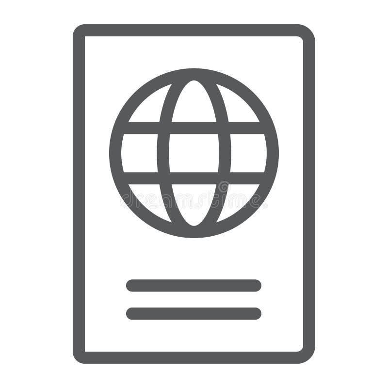 护照线象、旅行和旅游业 库存例证