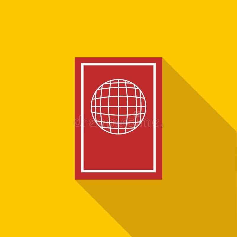 护照象,平的样式 库存例证