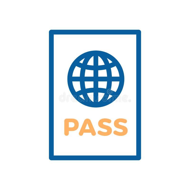 护照象 旅行的传染媒介稀薄的线例证 皇族释放例证