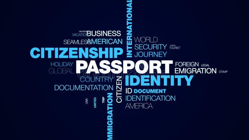 护照身分公民身份国境正式机场风俗离开移民目的地赋予了生命 库存例证
