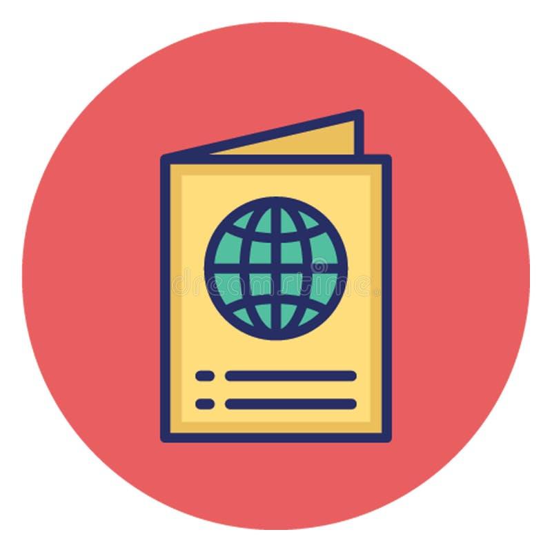 护照,旅行id可能容易地编辑的传染媒介象 库存例证