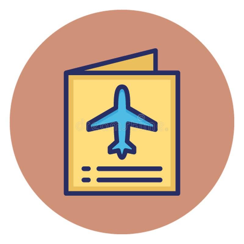 护照,旅行id可能容易地编辑的传染媒介象 皇族释放例证