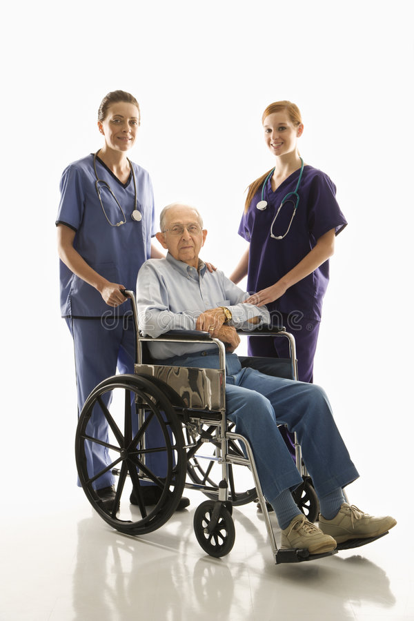 护理患者 免版税库存照片