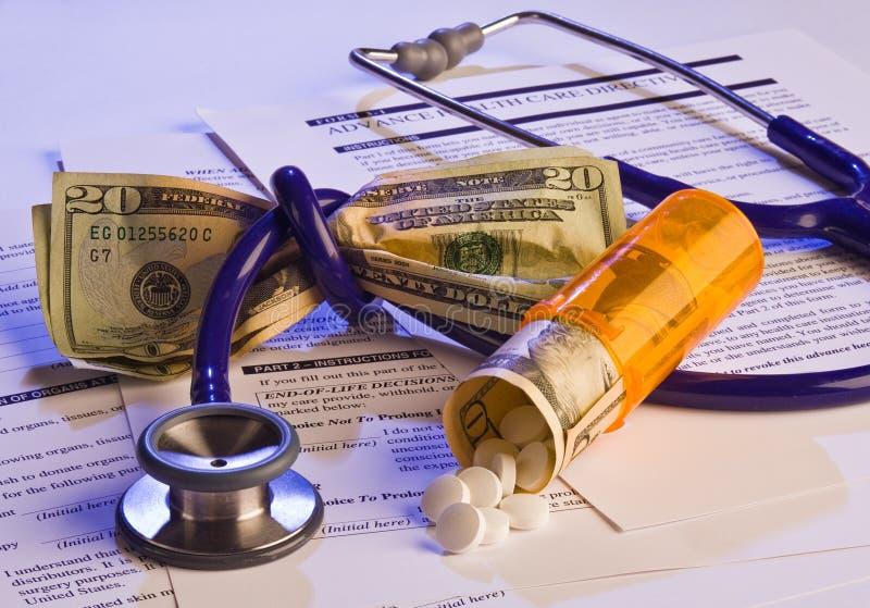 护理费用指示性健康医疗保健 免版税库存照片