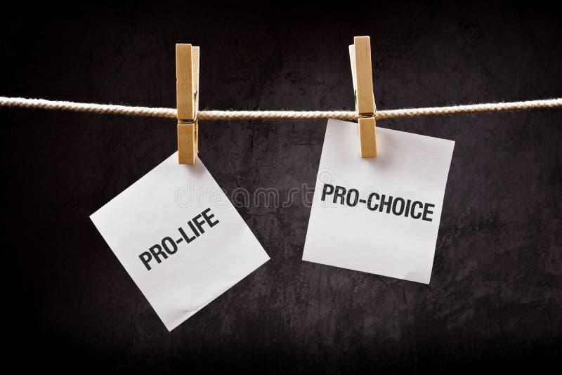 维护生命对选择前,堕胎概念 免版税库存图片