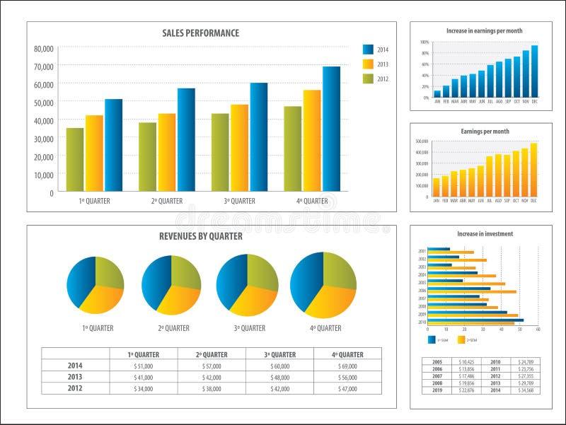 报告与金融投资图 库存例证
