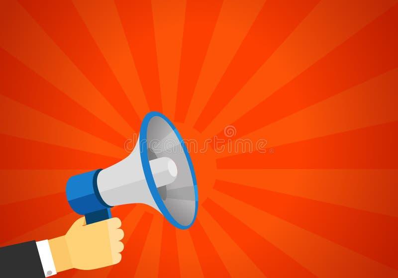 报告人传染媒介例证的大声的声音 向量例证