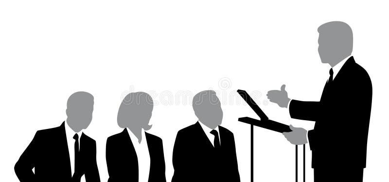 报告人和听众 向量例证