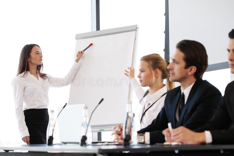 报告人在业务会议上 免版税图库摄影