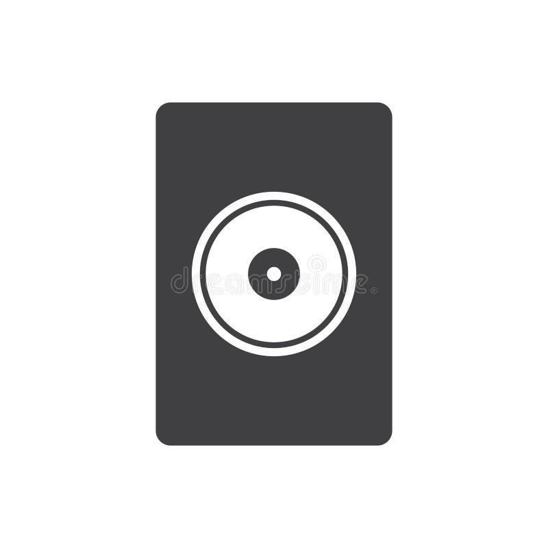 报告人象传染媒介,声音,在白色背景隔绝的音频音乐标志 图形设计的时髦平的样式 库存例证