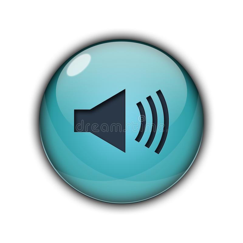 报告人象和按钮3D天蓝色颜色 皇族释放例证