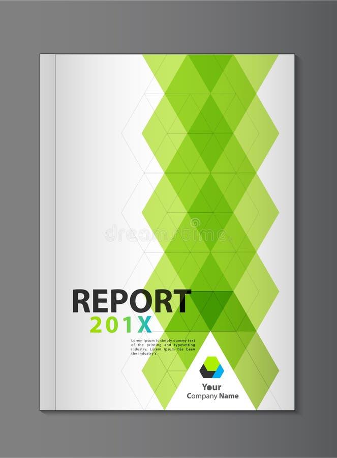 年终报告盖子设计 向量例证