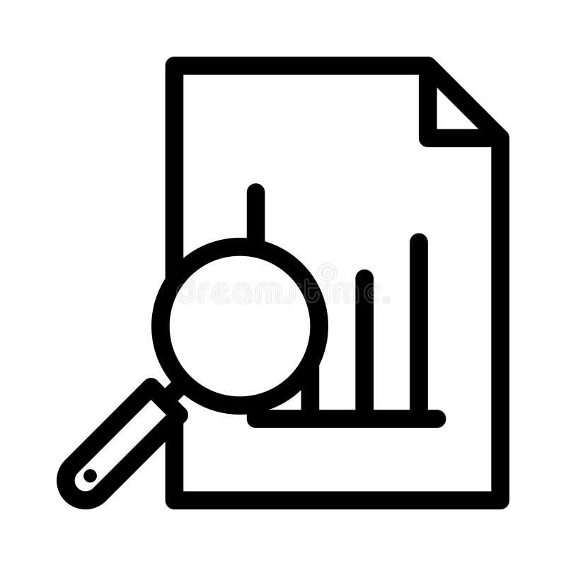报告稀薄的线传染媒介象 库存例证