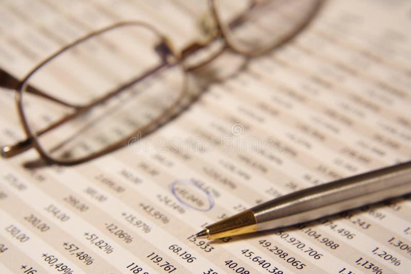 报告股票 免版税库存照片