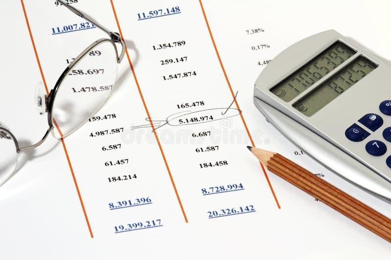 报告销售额 免版税库存照片