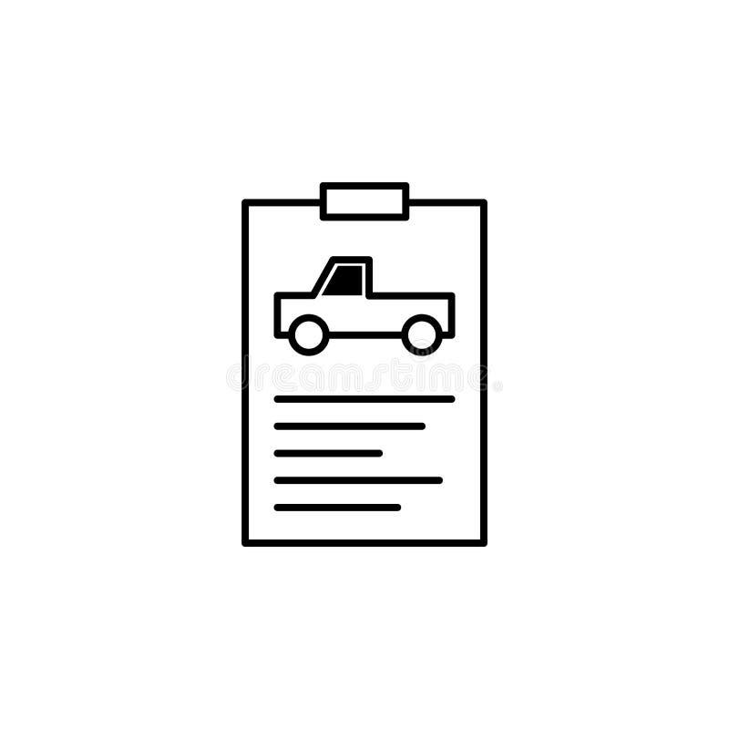 报告,汽车,信息概述象 能为网,商标,流动应用程序,UI,UX使用 库存例证