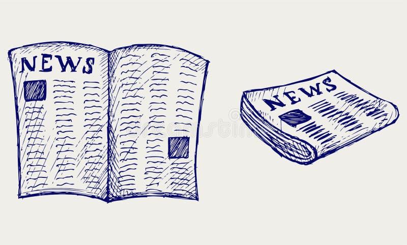 报纸。 乱画样式 皇族释放例证