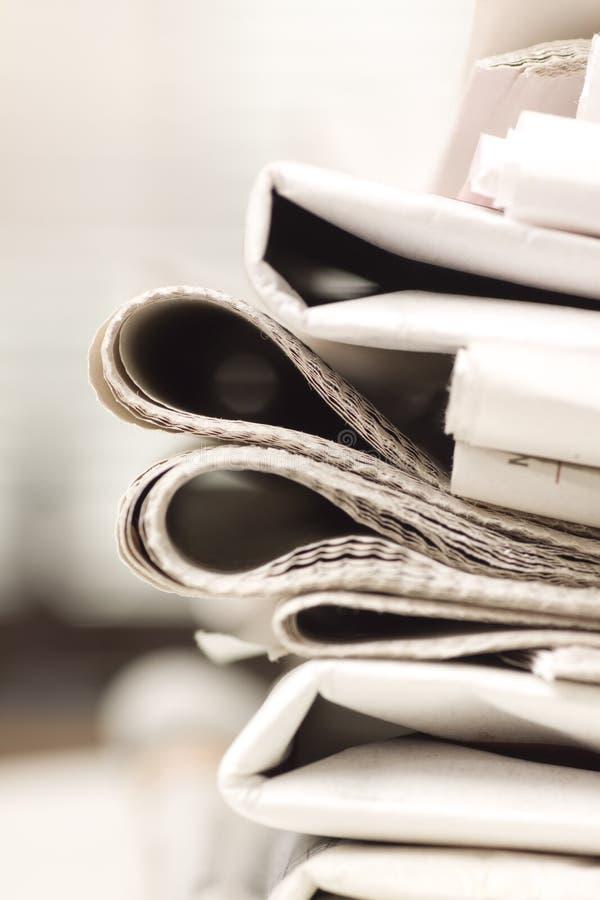 报纸堆 免版税图库摄影