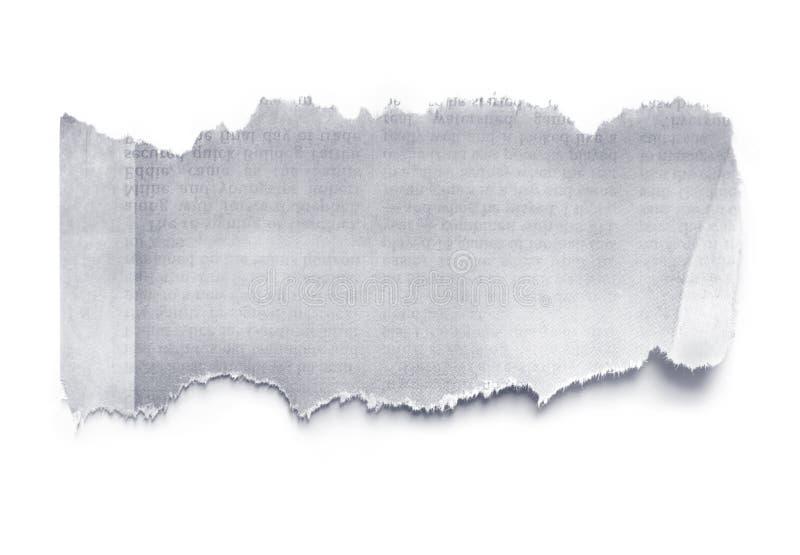 报纸泪花 免版税库存图片