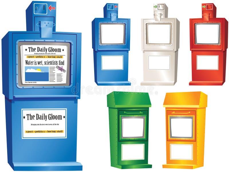 报纸自动贩卖机立场 库存例证